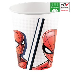 Spider-Man Compostable Paper Cups - 200ml