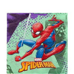 Spiderman Team Up Lunch Napkins - 33cm