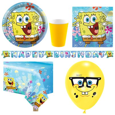 Spongebob Deluxe Party Pack