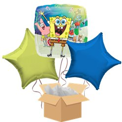 SpongeBob Balloon Bouquet - Delivered Inflated