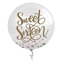Blush Sweet Sixteen Confetti Balloon - 24""