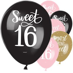 Blush Sixteen Latex Balloons - 12""