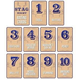 Stag Night Rating Cards