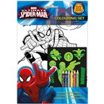 Ultimate Spiderman Colouring Set
