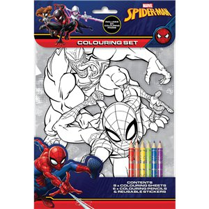 Spiderman Colouring Set
