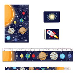 Space Stationary Set - (5pcs) (Stationery)