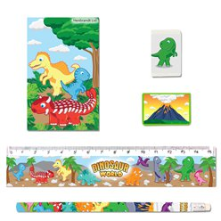 Dinosaur Stationery Set - 5 Pieces