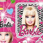 Barbie Glittery Stickers