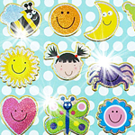 Prismatic Smiley Faces Stickers