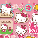 Hello Kitty Flowers Stickers