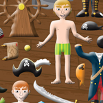 Dress Up Pirates - Puffy Stickers