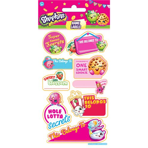 shopkins name label stickers party delights