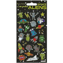 Sparkle Aliens Sticker Sheet
