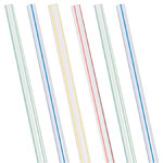 Striped Plastic Straws - Assorted Colours