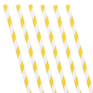 Yellow Stripe Paper Straws