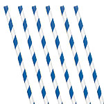 Royal Blue Stripe Paper Straws