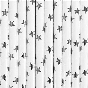 Silver Star Paper Straws