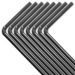 Black Plastic Flex Straws