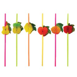 Fruit Honeycomb Plastic Straws