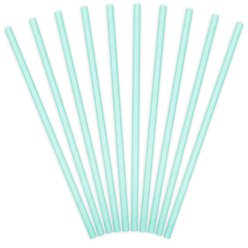 Light Blue Paper Straws
