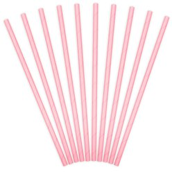 Light Pink Paper Straws