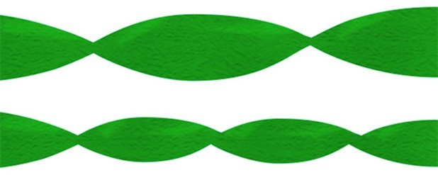 Green Crepe Paper Streamer - 24m