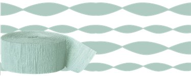 Mint Green Crepe Paper Streamer - 24m