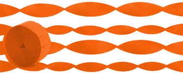 Orange Crepe Paper Streamer - 24m