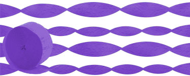 Purple Crepe Paper Streamer - 24m