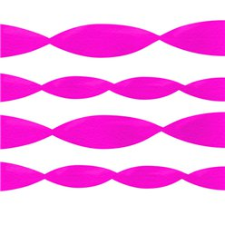 Hot Pink Crepe Paper Streamer - 24m