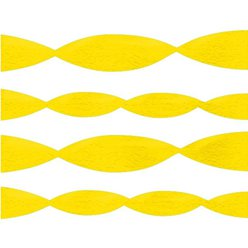 Yellow Crepe Paper Streamer - 24m
