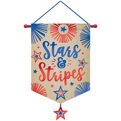 Stars & Stripes Canvas Banner - 55cm