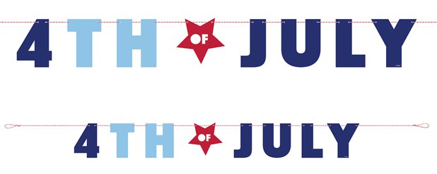 Happy 4th of July Banner