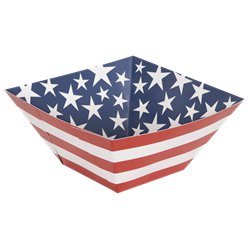 Stars and Stripes 4th July Paper Square Bowl