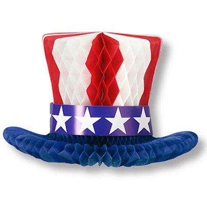 USA Stars & Stripes Honeycomb Table Centrepiece - 30cm