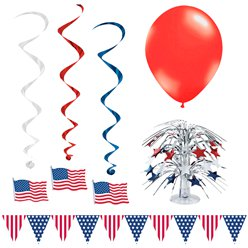 4th July Value Room Decorating Kit - 17 Pieces