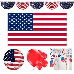 4th July Deluxe Decorating Kit - 43 Pieces