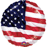 "USA American Flag Balloon - 18"" Foil 4th July Balloon"