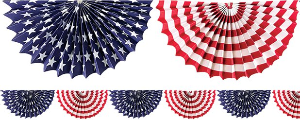 4th July Stars & Stripes Garland - 2m