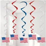 American Flag Hanging Swirl - 4th July Decoration