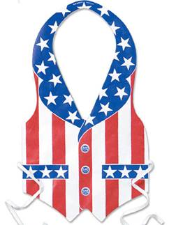 USA American Patriotic Vest for Him - 4th July