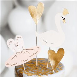 Lovely Swan Cake Toppers