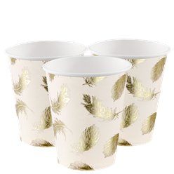 Lovely Swan Paper Party Cups - 220ml