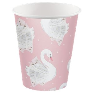 Lovely Swan Paper Cups 266ml
