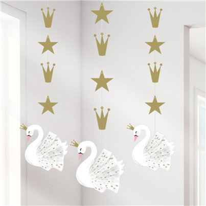 Lovely Swan Hanging Cutouts - 91cm