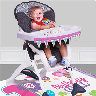 Sweet Girl 1st Birthday High Chair Decorating Kit