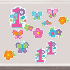 Sweet Girl 1st Birthday Cutouts
