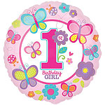 "Sweet Girl 1st Birthday Balloon - 18"" Foil"