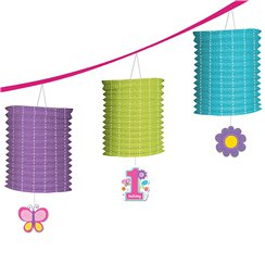 Sweet Girl 1st Birthday Lantern Garland - 3.65m