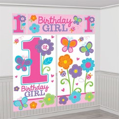 Sweet Girl 1st Birthday Scene Setter - 1.6m